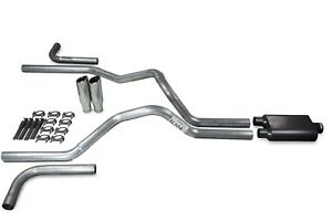 "04-08 Dodge Ram 1500 2.5/"" Dual Exhaust 2 Chamber Muffler"