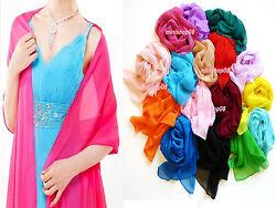 Chiffon Stola Schal Chiffonschal Hochzeit Bolero Abendkleid Tuch hm 40 Farben