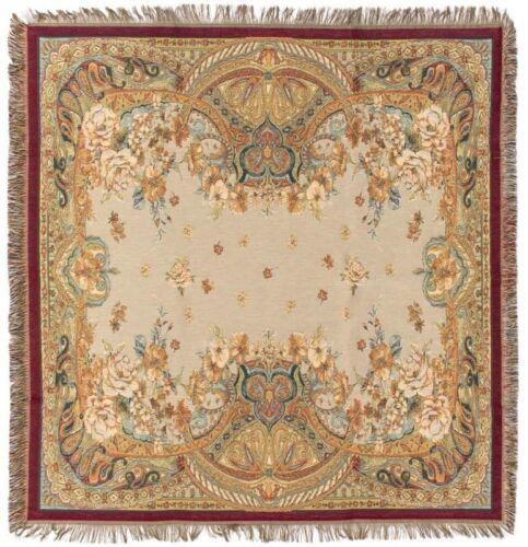 "Nouveau 60/"" SAMSARA /""Ariya/"" Belge Tapisserie Chaise de Table Throw Bed Spread 7140"