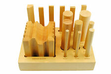 Proops Doming Dapping Swage Block Set Wood Shaping Punches Forming 5-25mm J1115