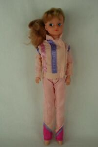 Otto-Simon-FLEUR-REDHAIRED-doll-in-pink-training-outfit-Dutch-Sindy-80-039-s