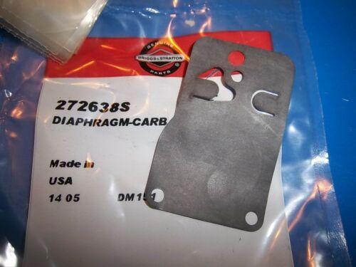 NEW BRIGGS CARBURETOR DIAPHRAGM  272638 272638S OEM B52 Q3