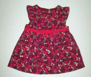 INFANT-GIRLS-GYMBOREE-WOODLAND-TAIL-PINK-FLORAL-DRESS-SIZE-0-3-MONTHS