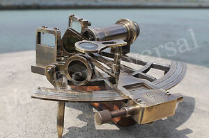 "8"" Nautical Sextant (Henry Barrow & Co London) Vintage Marine New year Best Gift"