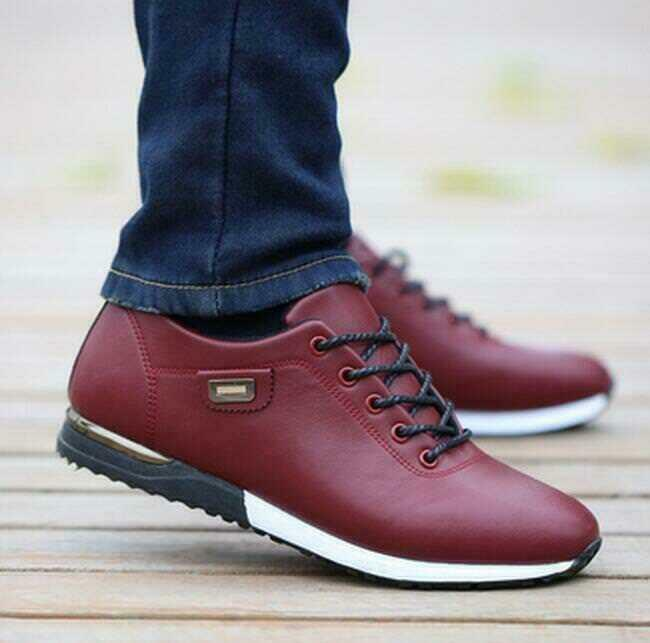 Korean low toe Mens Casual British Lace Up Sneakers oxford sport tennis shoes