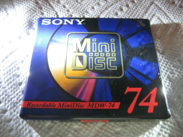 Brand New Sealed SONY Recordable 2-Pack MDW-74 Digital Audio Mini Discs