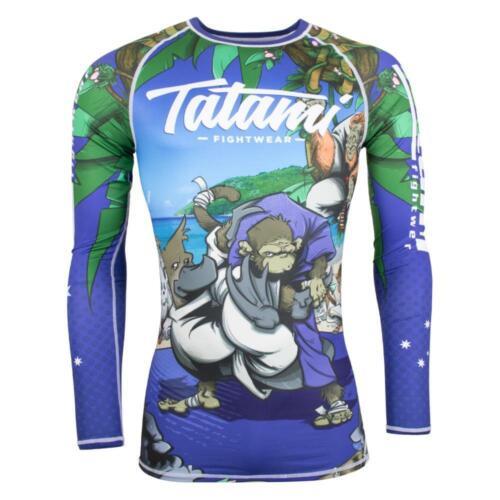 Tatami Omoplatapus BJJ Rash Guard Long Sleeve MMA Jiu Jitsu Compression Mens