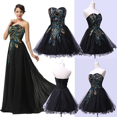 Plus Size Long/Short Evening Prom Party Masquerade Gown Bridesmaid Wedding Dress