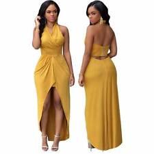 Fashion Women Sexy Halterneck Dress Party Gown Night Club Evening Dress Vestidos