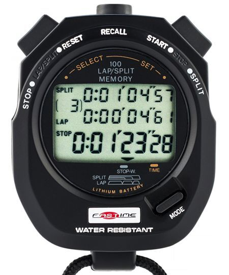 Fastime 10 100 lap memory stopwatch for Motorsport