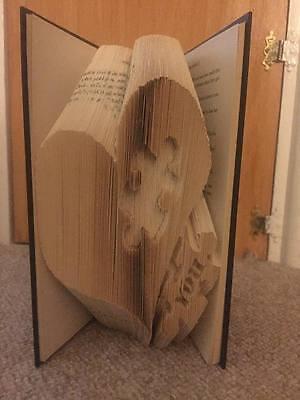 Heart Love Jigsaw Folded Book Art Folding PATTERN ONLY #142
