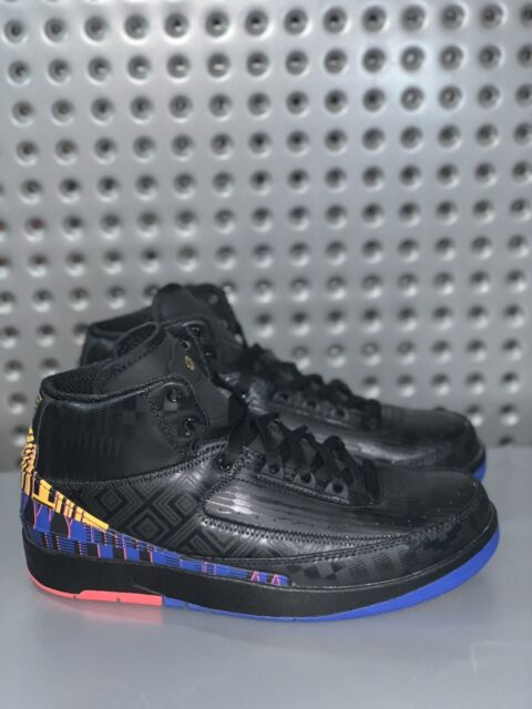 Nike Air Jordan 2 Retro GS Black History Month Ci2972 007 Youth Size 6.5Y Wmns 8