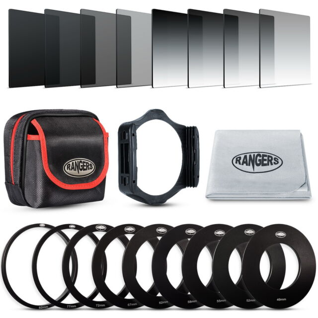 Rangers 8x Full Graduated Neutral Density ND Filter Set for Cokin P Series RA14