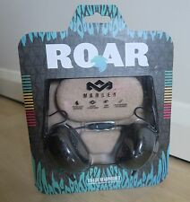 House of Marley ROAR Black On-Ear Headphones NEW