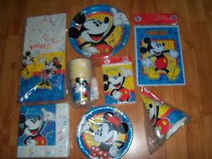 8pc Lot Party Express Mickey Mouse Confetti Birthday Party Goods Multi-color NOS