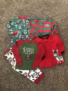 2ba0cd0da Boys 3T Carters 4 Pair Christmas Pajamas PJs! Santa
