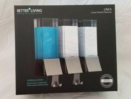 Better Living Linea Triple Luxury Shower Dispenser NIB