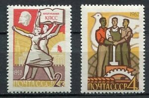 28630) Russia 1962 MNH New Communist Party 2v Scott #