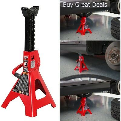 Torin 3 Ton Jack Stands Car Truck SUV Repair Duty Garage Double Locking Pawl NEW