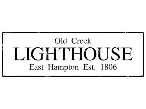 METALLSCHILD Shabby Vintage Blechschild LIGHTHOUSE maritim New England Stil