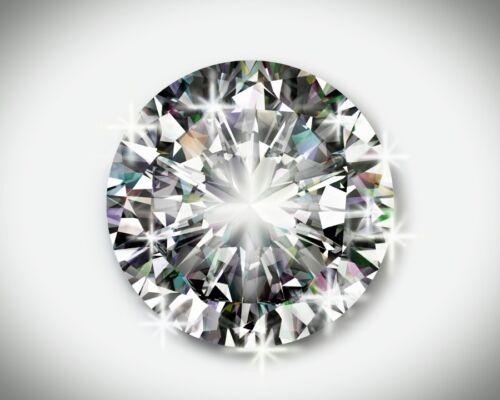 2.00 Carat Round Cut Diamond 8.00 mm AAA Quality!!
