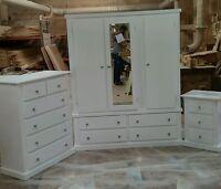 Handmade Bekrshire (white) 3 Piece Bedroom Set Not Flat-pack/assembled