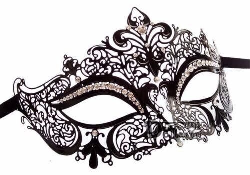 Lady women Metallic Crystal VENETIAN Masquerade Halloween Fancy Face Eye Mask