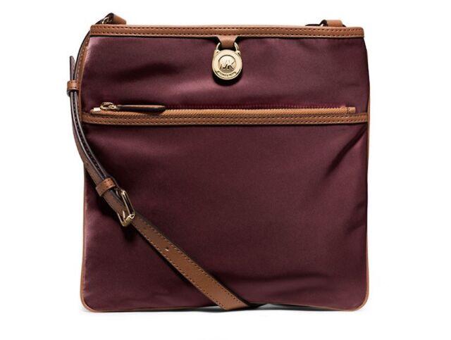 bcc3a5cbfa3c67 Michael Kors Kempton Merlot Large Pocket Nylon Crossbody Bag Purse  32S5GKPC9C