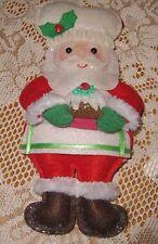 "Santa Chef/Baker with Plum Pudding Felt Ornament-8"" Tall"