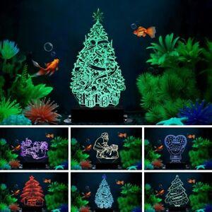 3d Submersible Rgb Del Aquarium Decorations Light Fish Tank Nuit Lampe Ornement Ebay
