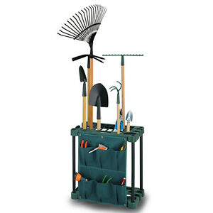 GARDEN TOOL STORAGE RACK GARDENING CADDY SHED EQUIPMENT HOLDER