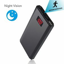 HD 1080P 5000mAh Portable Hidden Power Bank Camera Nanny Cam 10 Hours Continuo