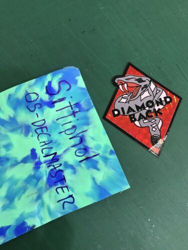 DIAMONDBACK BMX Plate decal TANGE Old School CBR PK RIPPER SILVER STREAK Red