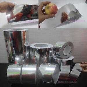 Adhesive-Tape-DIY-PVC-Glossy-Mirror-Chrome-Vinyl-Wrap-Sticker-Decal-Silver-CR