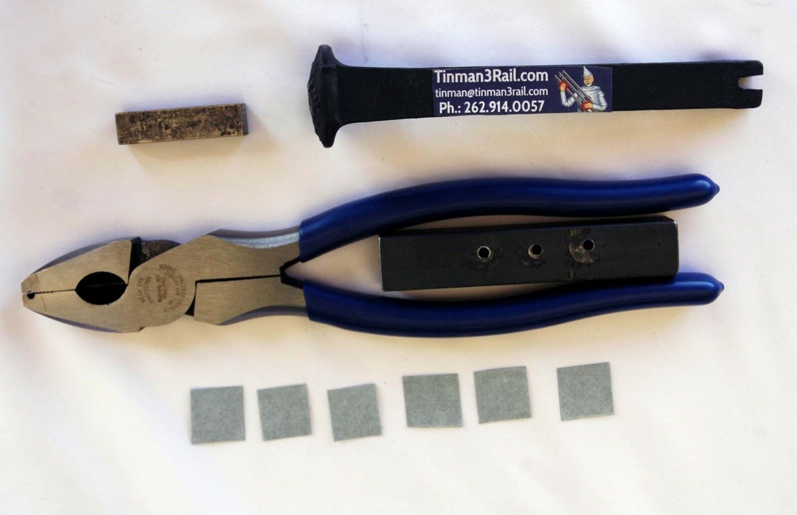 O27 gauge track kit,  pliers with pin insDiessisionetion Jig, e tie tightening struessitos