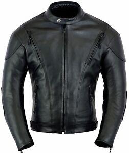 Blouson-moto-cuir-veste-aere-ventile-protection-antichoc-anti-impact
