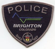 BRIGHTON COLORADO CO POLICE PATCH