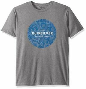 Quiksilver-Men-039-s-Crew-Neck-Printed-Raging-Dream-Tee-Medium-Gray-Heather-2XL