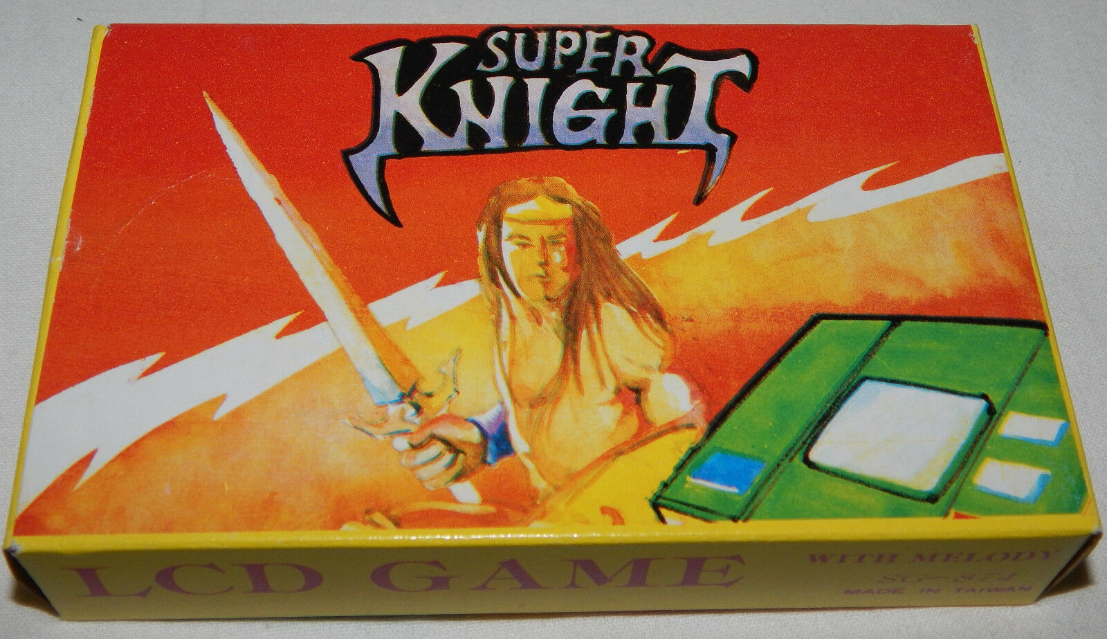 RARE VINTAGE SUPER KNIGHT LCD HANDHELD GAME BY SUNWING SUN WING IN BOX BOXED NOS