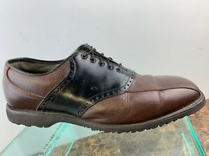 Footjoy-Classics-Brown-Black-Leather-Oxford-Lace-Up-Spikeless-Golf-Shoes-Men-9-5