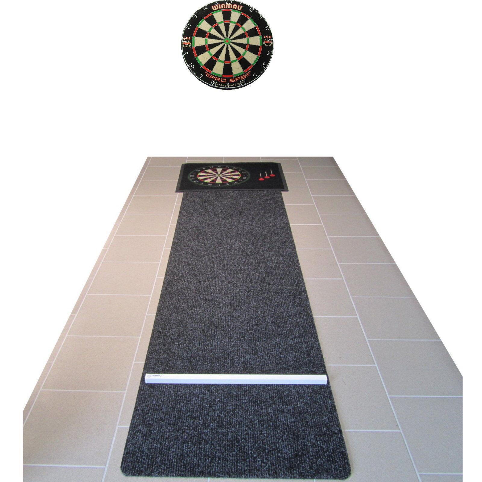 Winmau Professional Darts Set Disc + Carpet + Bouncer Protection Steeldart + 6 Arrows