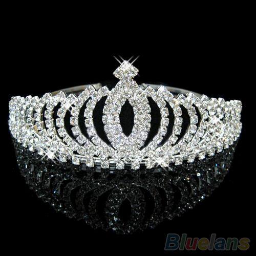 Vogue Bridal Bridesmaid Rhinestone Chic Crown Tiara Headband Wedding Party Prom