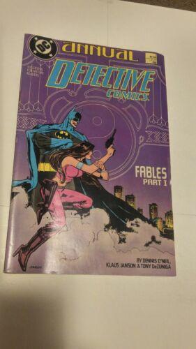 Detective Comics #1 1988 Annual DC Comics Batman Janson DeZuniga