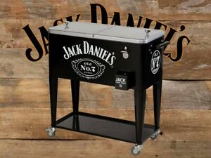Jack Daniels Whisky Advertising Stainless Steel Square Ice Bucket