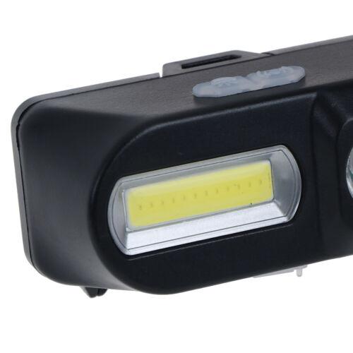 Mini COB LED headlight headlamp flashlight USB rechargeable torch night lighRSDE