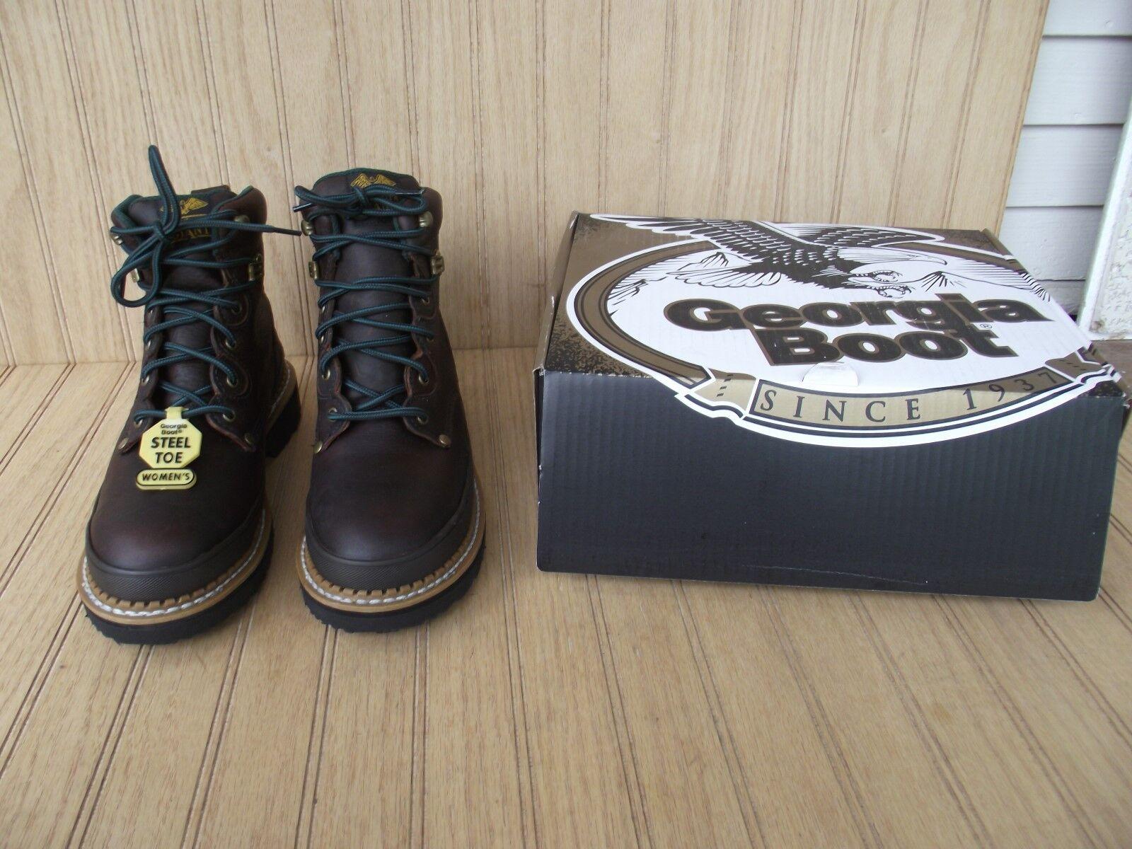 vendite online GEORGIA avvio G3374 donna 6  GIANT STEEL TOE TOE TOE stivali, LEATHER, OIL RES, ELECT HZD  scelte con prezzo basso
