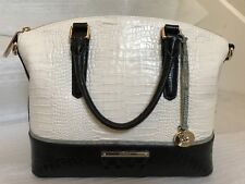 NWT Brahmin Duxbury Satchel/Shoulder Bag in Ivory Tri-Texture $295