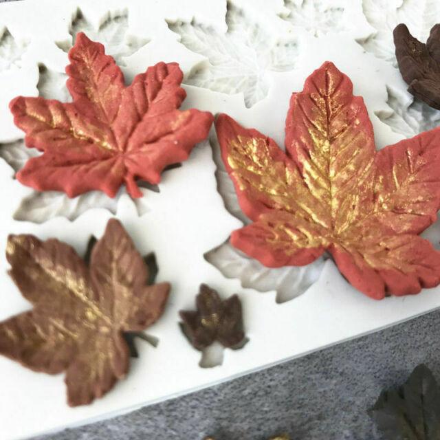 Maple Leaf Shape Silicone Moule Fondant Gâteau Décoration chocolat cuisson Savon Glace À faire soi-même