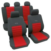 Sports Style Car Seat Covers - Grey & Red - For Vw Polo 2009 Onwards