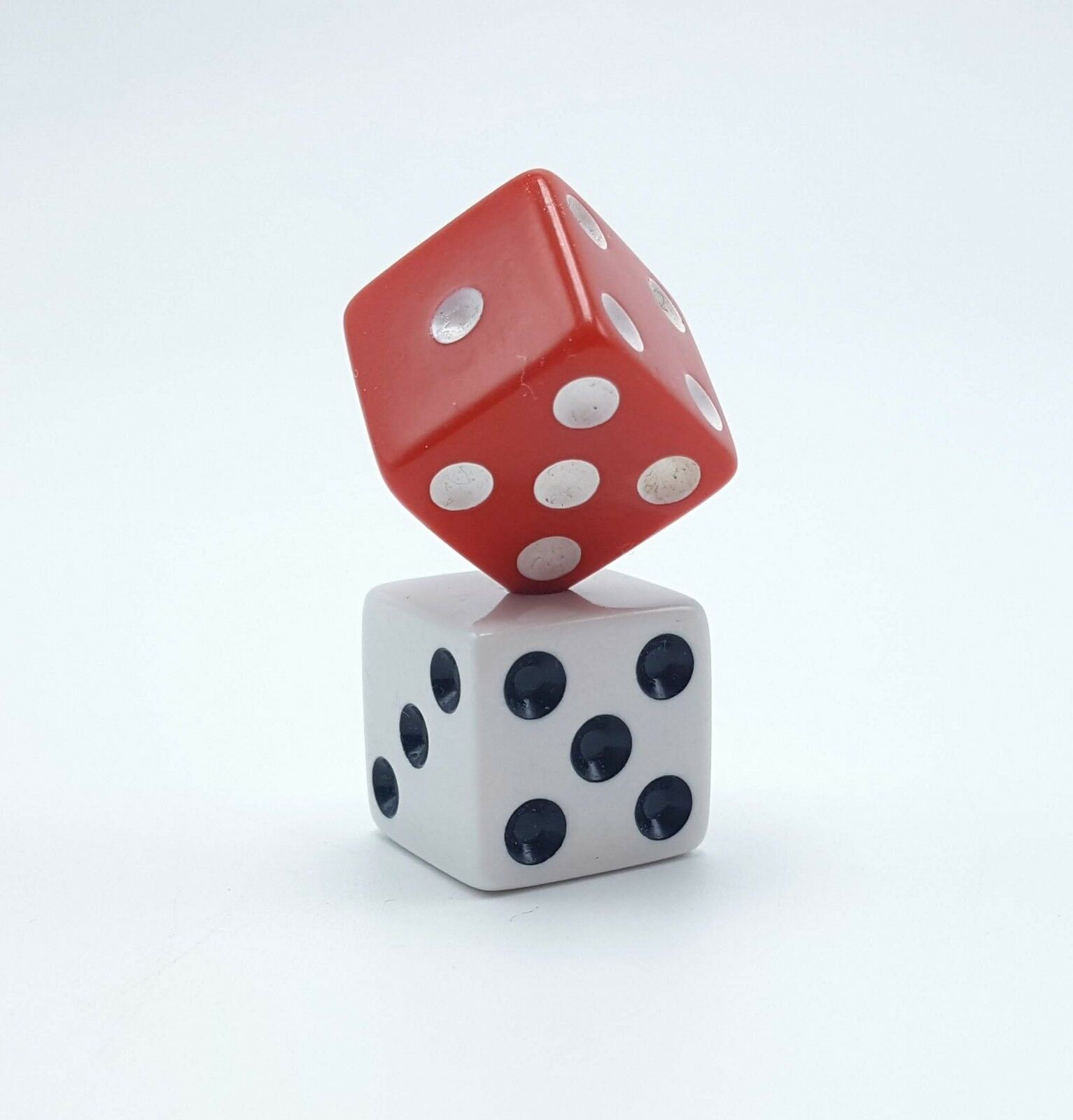 Red & White Dice Six Sided Replacement Game Part Pieces Set